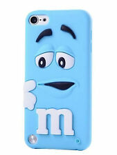 BLUE M & M Gomma in Silicone Back Case Cover Skin per iPod Touch 6