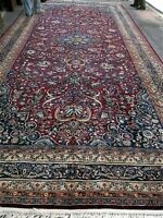 Hand woven middle eastern M-eshed antique carpet 9' x 19' good condition P.ersia
