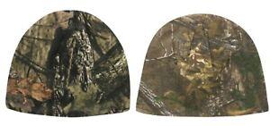 Mossy Oak Break-up Country or Realtree Xtra Camo Men's Basic Knit Beanie Hats