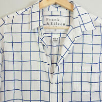 FRANK & EILEEN | Womens Large Check Shirt Top [ Size S or AU 10 / US 6 ]
