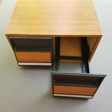 Vintage CD Faux Wood 2 Drawer Case Storage Box Holder Organizer up to 40 CDs