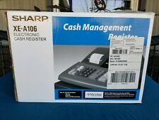 SHARP XE-A106 ELECTRIC CASH REGISTER WITH BOTH KEYS AND INSTRUCTIONS
