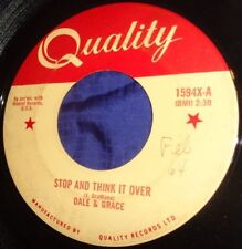 MB688 Dale & Grace Stop And Think It Over / Bad Luck 45 RPM Record
