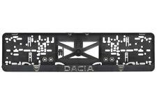 Dacia Duster,Logan 2xECHTE 3D-Effekt Kennzeichenhalter,Nummernschildhalter