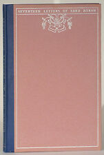 Seventeen suppressed letters Lord Byron to unknown lady 1930 limited edition