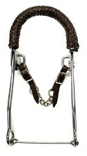D.A. Brand Braided Leather Nose CP Hackamore Horse Tack