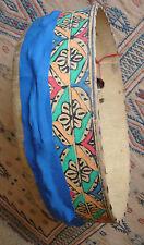 Pelle di grandi dimensioni Marocchina douf BENDIR CORNICE dipinto a mano a mano a tamburo douf DEF