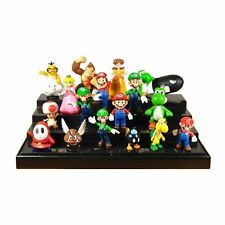 """Colorful Set Of 18 Pcs Super Mario Brothers Bros Figure Toy- 2"""" PVC Toys US POST"""