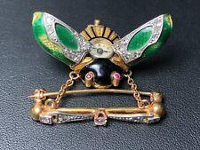 Art Nouveau Beetle Antique Pendant Watch-Certified Pre-Owned