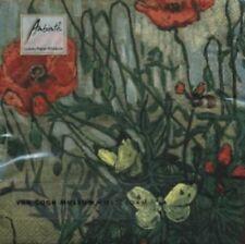 Servilletas, 3 capas papel Furgoneta De Gogh Amapolas & Mariposas Diseño (20 )