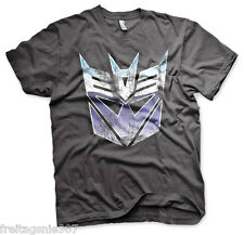TRANSFORMERS Decepticon Distressed  T-Shirt  camiseta cotton officially licensed