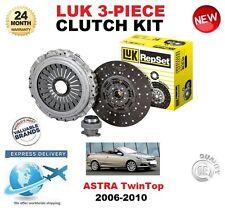 FOR VAUXHALL ASTRA TwinTop Mk V 2.0 Turbo 2006-2010 LUK CLUTCH KIT 3 PIECE