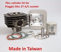 Big bore kit 70cc for Piaggio 2T 50cc NRG , Typhoon Fly  50cc 2T moped