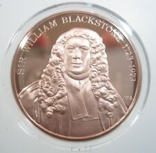 Franklin Special Proof Issue William Blackstone England Law 39mm Medal Holder