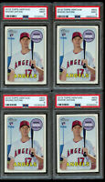 4 Lot 2018 Topps Heritage High Shohei Ohtani Rookie #600 PSA 9 Mint RC Angels