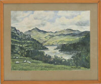 Edward Morgan (1933-2009) - Signed & Framed 20th Century Gouache, River Bend