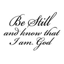 Be Still and Know that I am God pvc Wall Art Religious Home Decor Bible Scrip SS