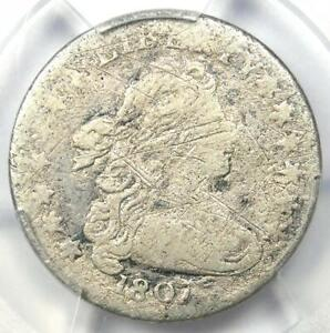 1807 Draped Bust Dime 10C - Certified PCGS VG Details - Rare Coin!