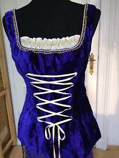 Mittelalter Karneval Larp Gewand Kostüm Royalblau-Ecru Größe M