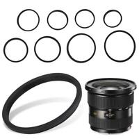 8PCS Adapter Ring Set 49-52-55-58-62-67-72-77-82mm For Canon Nikon DSLR Camera