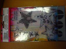 Star Light Dina Wakley Media Clear Acrylic Stamp & Stencil Set MDZ49500