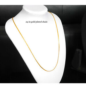 22k  gold plated  chain ladies men Indian chain necklace   L- 24 in u9