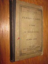 1880/90's PARADISE LOST A Poem in 12 Books by John Milton Clark & Maynard publis