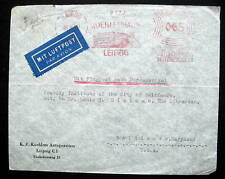GERMANY ADVERTISING COVER  WITH METER CANCEL LEIPZIG & CENSOR WW2