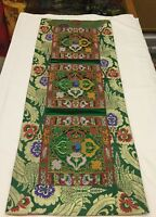Tibetan Green Double Dorje silk brocade table runner/ shrine cover /altar cloth