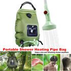 20L 5-Gallon Portable Shower Heating Pipe Bag Solar Water Heater Outdoor Camping