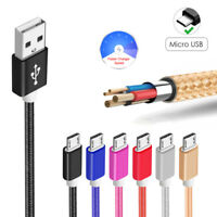 Strong Braided Metal Micro USB Data Cable Sony Microsoft HTC Motorola LG Huawei