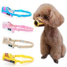 For Small Puppy Dog Muzzle Medium Large Leatherette Nylon Mesh Muzzle Pet Muzzle