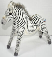 Hansa ZEBRA w/ ARTICULATING POSEABLE LEGS Stuffed Animal PLUSH SOFT TOY 2010