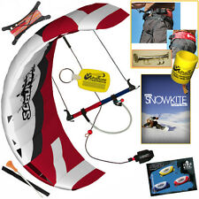 HQ Scout III 4M Power Foil Kite SnowKite Package Snow + Harness + SnowKiting DVD