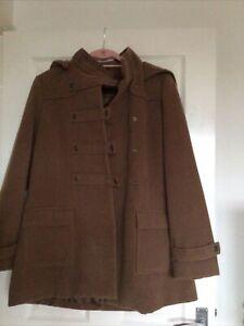 Modern Hooded Ladies Duffle Look  Coat KLASS SIZE 16 Brown  Tan