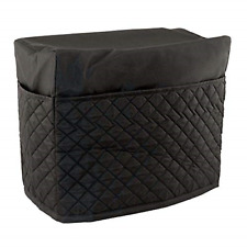 Everything Mary Black Quilted Sewing Machine Cover and Dust Cover Protector, New
