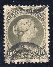 CANADA STAMP #26 — 5c QUEEN - p.11.75x12  - W/ CERT - 1875 - USED