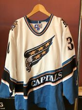 Washington Capitals NHL Starter Jersey X-Large Jim Carey 30 (Vintage 90s Rare)