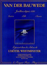 Publicité 1999  VAN DER BAUWEDE  joaillier depuis 1890 bague bijoux collier mode