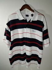 KARL KANI GOLD Men's  Stripe Polo Shirt  XXL 2XL Deep Navy Blue, White, Red
