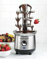 Chocolate Fondue Fountain Cascading Stainless Steel 4 Tier Kitchen Free Shipping