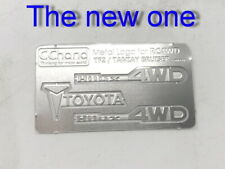 Metal Toyota logo Set for 1:10 TAMIYA Hilux Bruiser RC4WD TF2