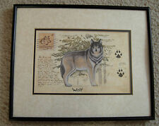 """JAMES WIENS FRAMED MOUNTED GLAZED PICTURE PRINT WOLF 11x14"""" CANADA GREAT OUTDOOR"""