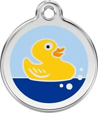 Rubber Duck Enamel/Solid Stainless Steel Engraved ID Dog/Cat Tag