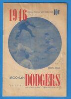 1946 Brooklyn Dodgers - Pittsburgh Pirates Scorecard Program Al Lopez Autograph