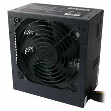 Black Builder 600W ATX PC Power Supply Unit PSU PCI-E 6x SATA 3x Molex 8-Pin 12V