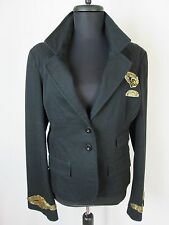 Women's Black Jacket with Gold Beaded Trim G Unit Clothing Size 10