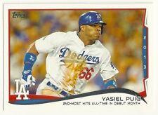 2014 Topps #552 Yasiel Puig Los Angeles Dodgers Series II checklist