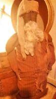 Primitive antique black santa