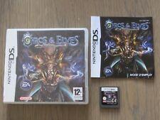 JEU NINTENDO DS 3DS  ORCS & ELVES  COMPLET EN FRANCAIS
